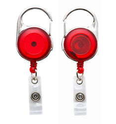 SICURIX Quick Clip ID Badge Reels Round Strap RED (68752)