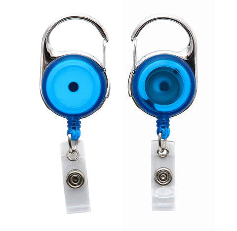 SICURIX Quick Clip ID Badge Reels Round Strap BLUE (68753)