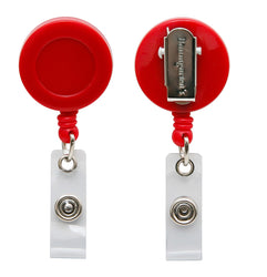 SICURIX Standard ID Badge Reel Round Swivel Spring Clip Strap RED (68842)