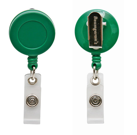 SICURIX Standard ID Badge Reel Round Swivel Spring Clip Strap GREEN (68846)