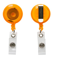 SICURIX Standard ID Badge Reel Round Belt Clip Strap Orange (68855)