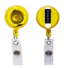 SICURIX Standard ID Badge Reel Round Belt Clip Strap Yellow (68857)