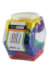 SICURIX Standard Lanyards Hook Rope Style Hexagonal Tub Display of 72 ASSORTED Colors (68919)