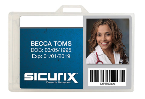 SICURIX Translucent Badge Dispensers Horizontal 25 Pack CLEAR (68110)
