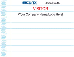 SICURIX Wristbands Printable WHITE 100/pack (85280)