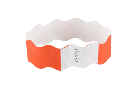 SICURIX Wristbands Wavy ORANGE 100/pack (85350)