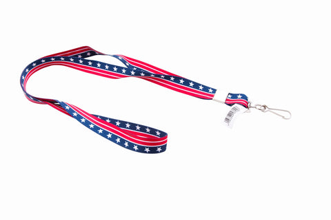 SICURIX Patriotic Lanyard Hook Flat Style RED WHITE BLUE (97510)