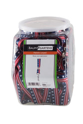 SICURIX Lanyards Patriotic Hook Flat Style Hexagonal Tub Display of 36 RED WHITE BLUE (97519)