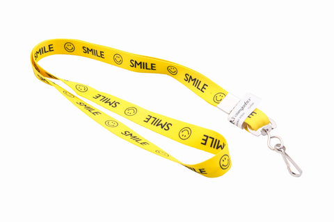 SICURIX Smiley Face Lanyard Hook Flat Style YELLOW (97600)