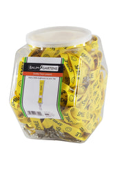 SICURIX Lanyards Smiley Face Hook Flat Style Hexagonal Tub Display of 36 YELLOW (97609)