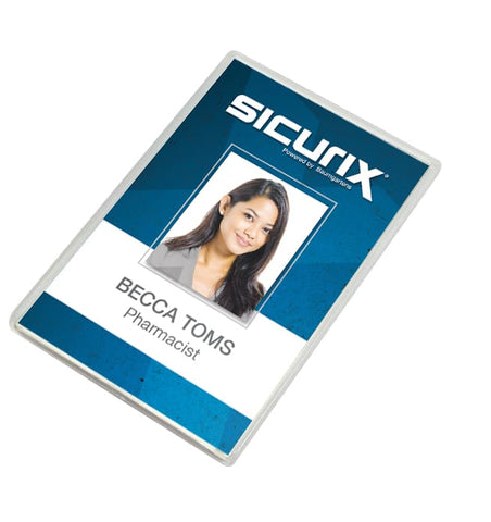 SICURIX Translucent Badge Dispensers Vertical 25 Pack CLEAR (68120)