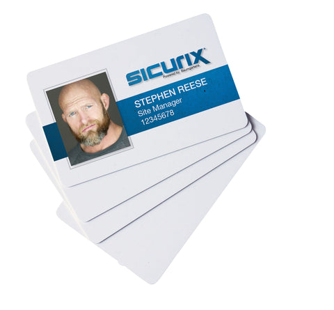 SICURIX CR 80 Blank ID Cards 30 mil 100 Pack WHITE (80300)