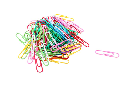 Baumgartens Vinyl Coated Paper Clips #1 Standard Size 100 Pack ASSORTED Colors (ES-5000)