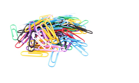 Baumgartens Vinyl Coated Paper Clips #1 Standard Size 500 Pack ASSORTED Colors (ES-9500)