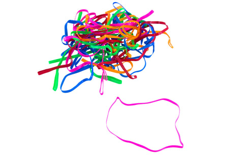 "CONSERVE PlastiBands 4 1/4"" 100 Pack ASSORTED Colors (SF-6000)"
