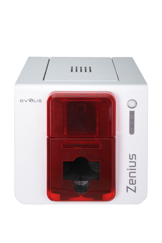 SICURIX Evolis Zenius Classic ID Printer Single Sided 50 Card Hopper WHITE (ZN1U0000RS)