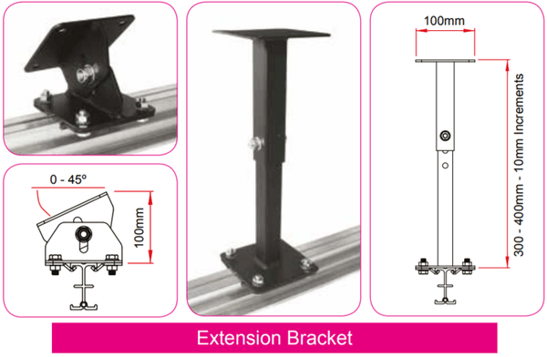 Doughty Studio Rail - Extension Bracket