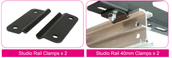 Doughty Studio Rail - Clamps