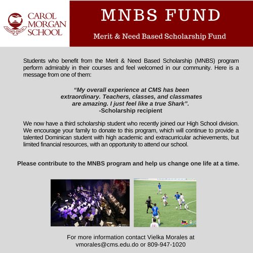 Merit & Need Based Scholarship Fund (MNBS)