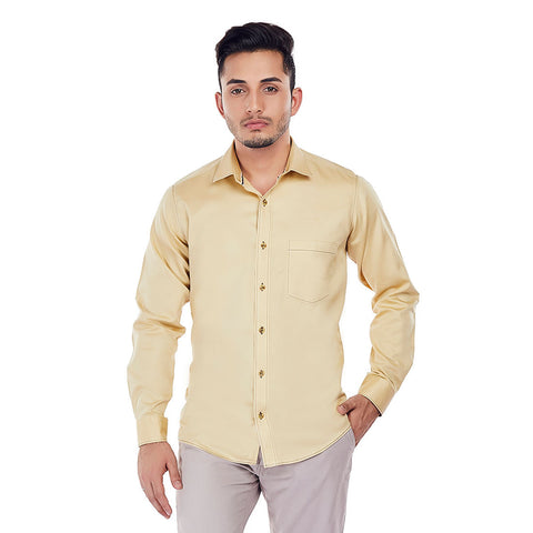 Beige Brigade - Superior Cotton Formal and Party Wear Shirt, Shirts, EVOQ, EVOQ - evoqstyle.com