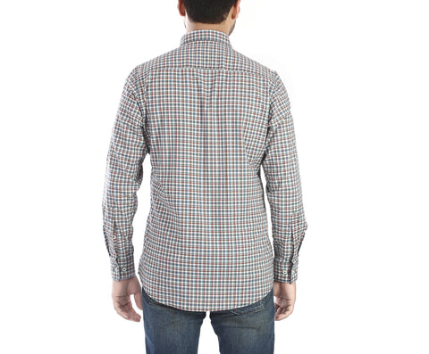 Block Mate - Red, White and Blue full sleeves, checked cotton shirt., Shirts, EVOQ, EVOQ - evoqstyle.com