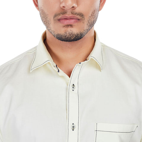 Ivory Tusk - Lemon Yellow Colored Cotton Formal Wear and Casual Wear Shirt, Shirts, EVOQ, EVOQ - evoqstyle.com
