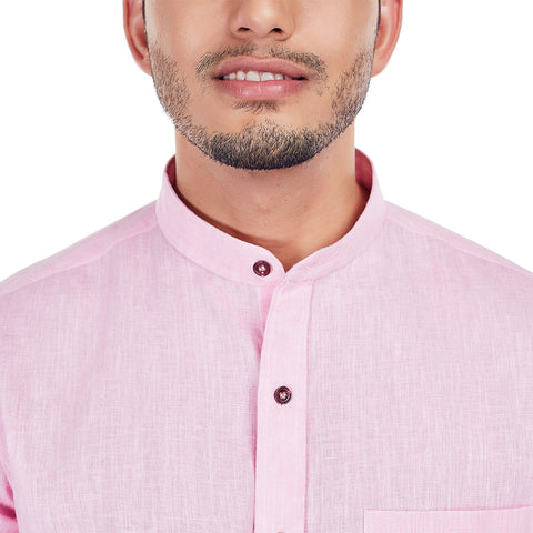 Linen Love - Light Pink Colored Premium Linen Formal Wear and Casual Wear Shirt, Shirts, EVOQ, EVOQ - evoqstyle.com