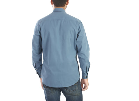 Sky is the limit - Blue full sleeves cotton shirt., Shirts, EVOQ, EVOQ - evoqstyle.com