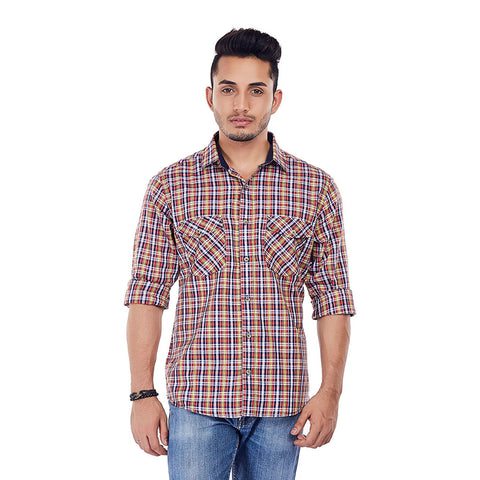 Sunset Tartan - Multi-Coloured Checkered Formal Wear and Casual Wear Shirt, Shirts, EVOQ, EVOQ - evoqstyle.com