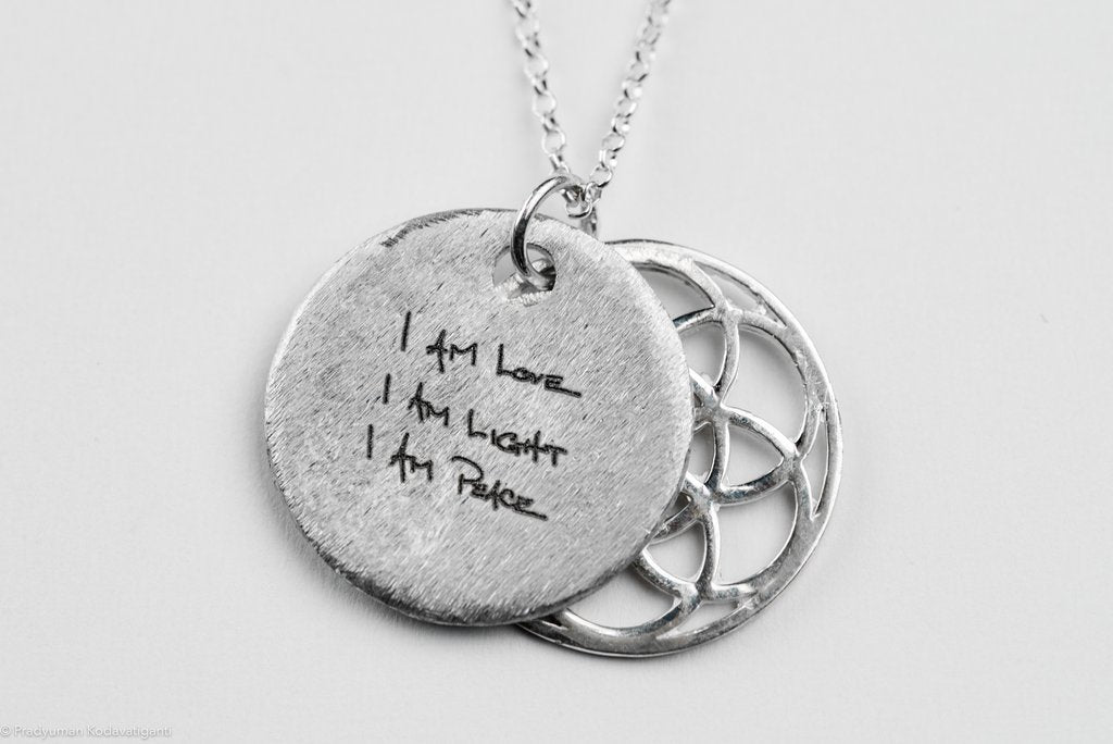 Seed of Life Sacred Geometry Sterling Silver Necklace (R)