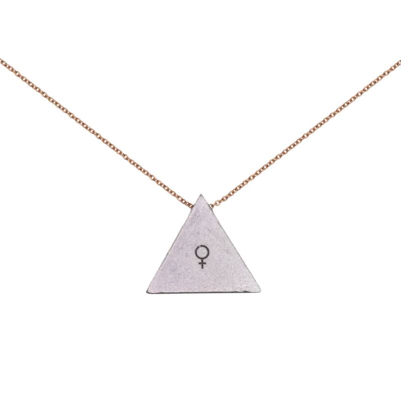 I am Woman - Triangle Necklace Rose Gold Fill