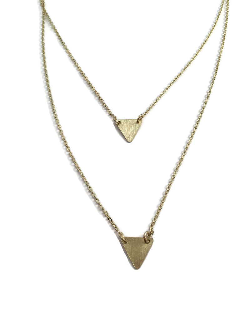 Clarity Triangle Necklace