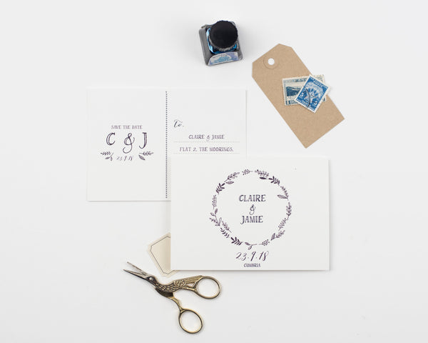 Hedgerow Save the Date Card