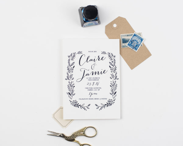 Hedgerow Wedding Invitation Sample Collection