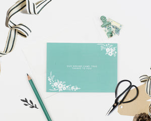 Floral Wedding Thank-you Card
