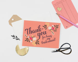 Bridesmaid Thank-you Card