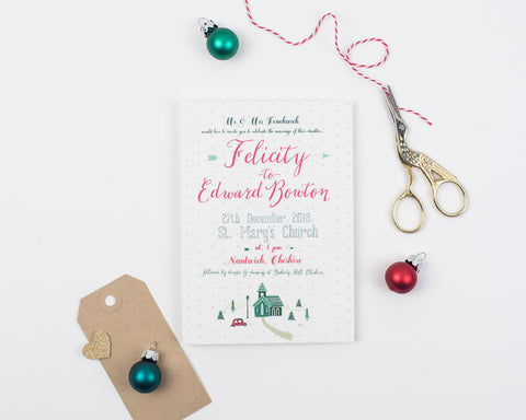 Winter Wedding Invitation Set