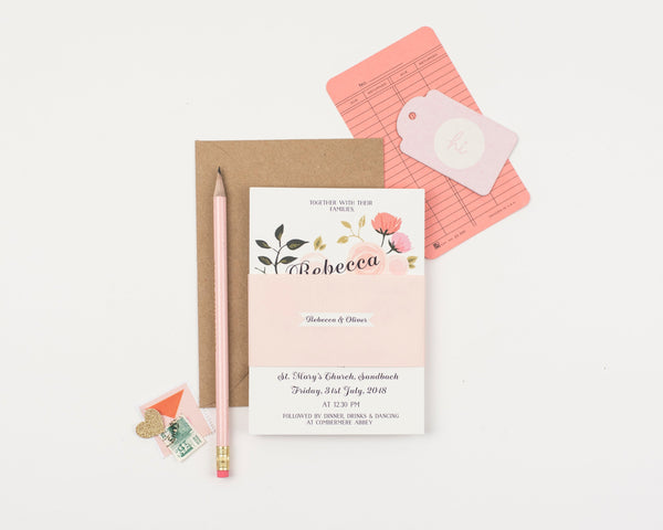 Peony Wedding Invitation Sample Collection