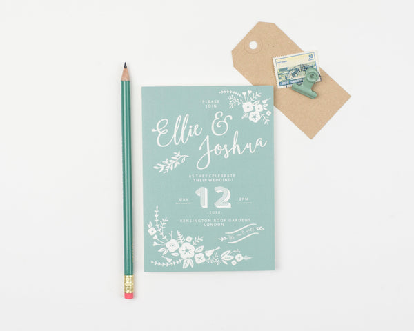 Boho Wedding Invitation Sample Collection