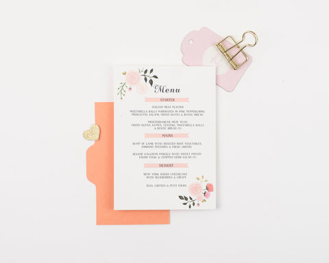 Peony Collection Menu