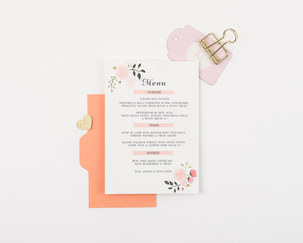 Peony Collection Place Card