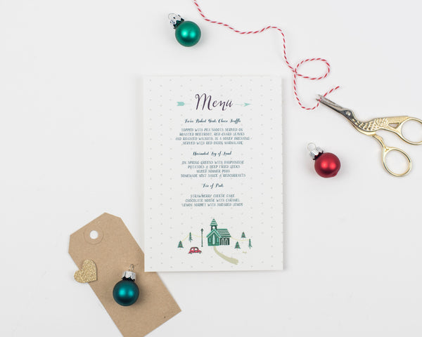 Winter Collection Place Card