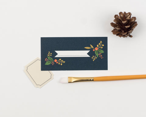 Fir Cone Collection Place Card