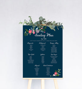 Bloom Floral Wedding Table Plan