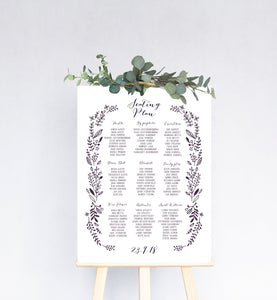 Hedgerow Wedding Table Plan