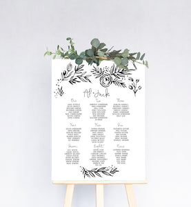 Fern Wedding Table Plan