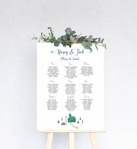 Winter Wedding Table Plan