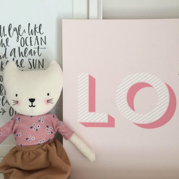 Liberty Print 'BIG LOVE' Nursery Print