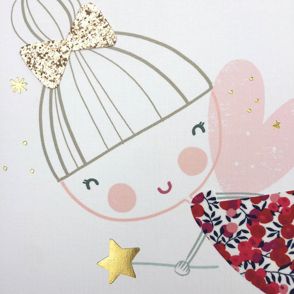 Limited Edition - Xmas Liberty Print & Glitter Fairy Nursery Art