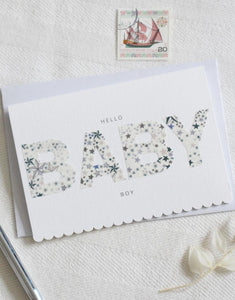 Scallop edge new baby greetings card by The Charming Press